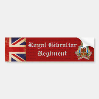 Royal Gibraltar Regiment Bumper Sticker
