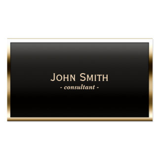 Royal Gold Border Consultant Business Card