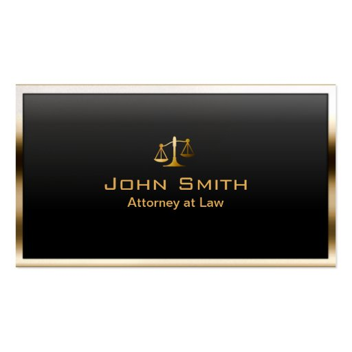 Royal Gold Border Lawyer/Attorney Business Card