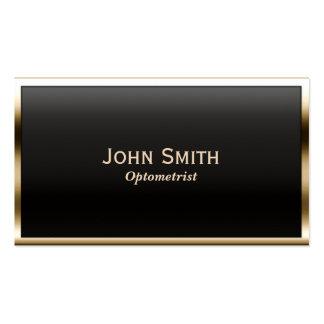 Royal Gold Border Optometrist Business Card