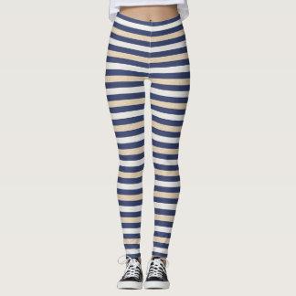 Royal Gold Classic Stripes Leggings