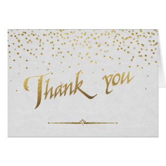 Royal Gold Foil Wedding Custom THANK YOU Card