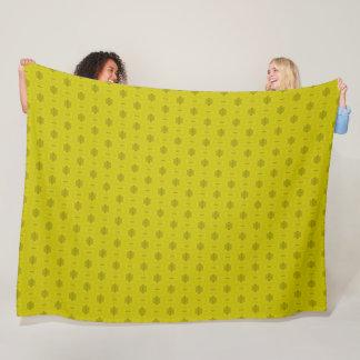 Royal Gold Satin Pattern Fleece Blanket