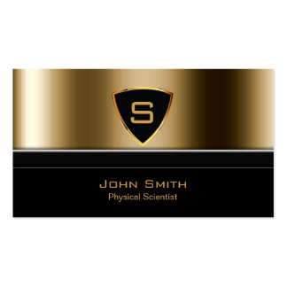 Royal Gold Shield Physical Scientist Business Card