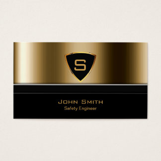 Royal Gold Shield Safety Engineer Business Card
