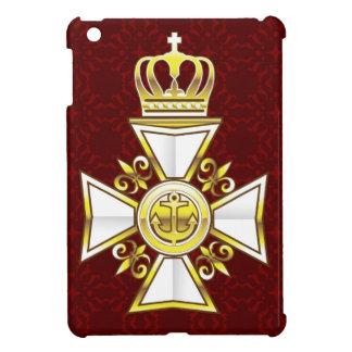 Royal Gold White Navy Cross iPad Mini Covers