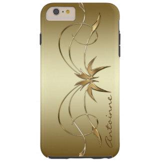 Royal Golden Ornament Custom Monogram Template Tough iPhone 6 Plus Case