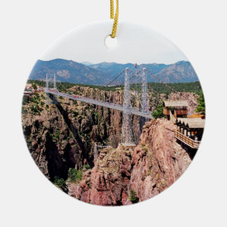 Royal Gorge Bridge,  the highest in USA Ceramic Ornament