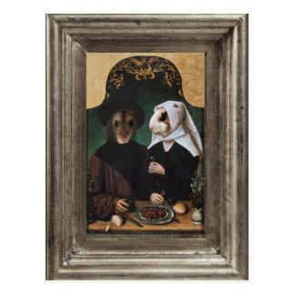 Royal Hamster Family Framed Portrait Postcard