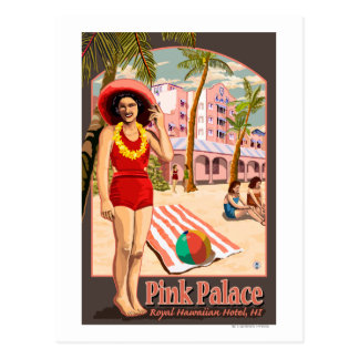 Royal Hawaiian Hotel in Hawaii Postcard