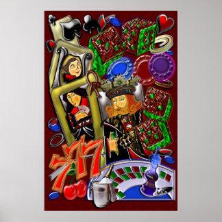 Royal Heart Flush, Casino Art Poster