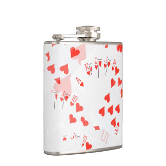 Royal Heart Flush Pattern, Hip Flask