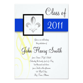 Royal High School Graduation Invitation in Blue