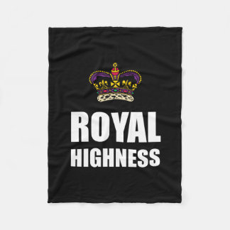 Royal Highness Crown Fleece Blanket