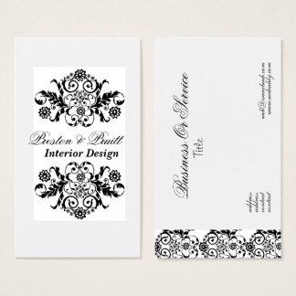 Royal Interior Designer Black White Profesional Business Card