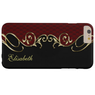 Royal Leather Gold iPhone 6 Plus Monogram Case