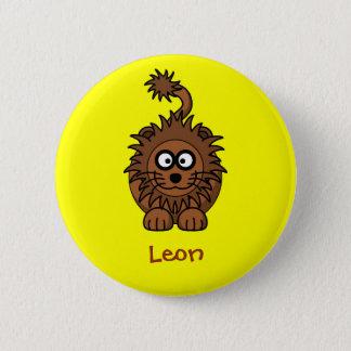 Royal lion 6 cm round badge
