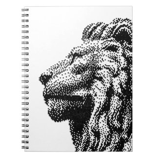 Royal Lion C64 Style Hand-Drawn Pixel Art Notebooks