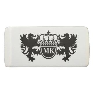 Royal Lion Monogram Eraser