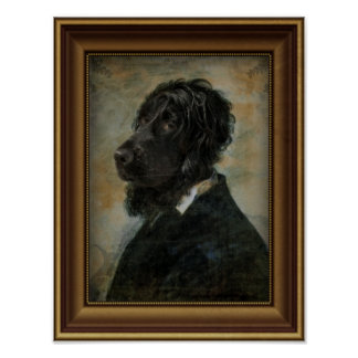 Royal Luxury Interior Dog Portrait Poster
