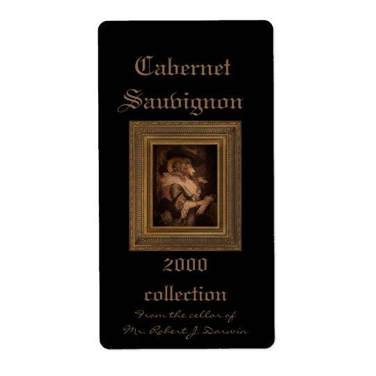 Royal Madame Framed Portrait Wine Label Shipping Label