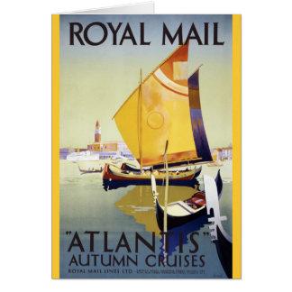 "Royal Mail ""Atlantis"" Autumn Cruises Greeting Card"