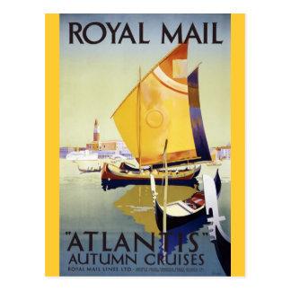 "Royal Mail ""Atlantis"" Autumn Cruises Postcard"