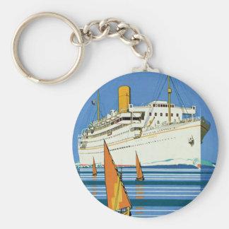 """Royal Mail """"Atlantis Cruises"""" Basic Round Button Key Ring"""