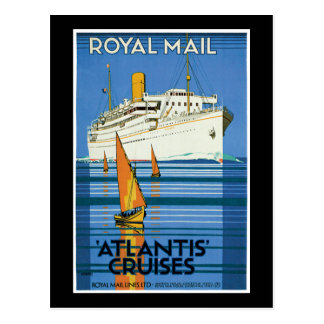 Royal Mail Atlantis Cruises Postcard