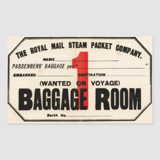Royal Mail Steam Packet Co Rectangular Sticker
