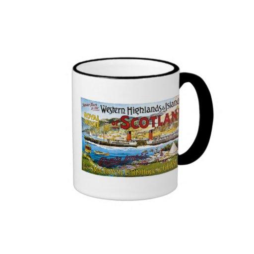 Royal Mail Steamers - Glasgow - Vintage Coffee Mugs