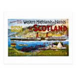 Royal Mail Steamers Scotland Glasgow Vintage Postcard