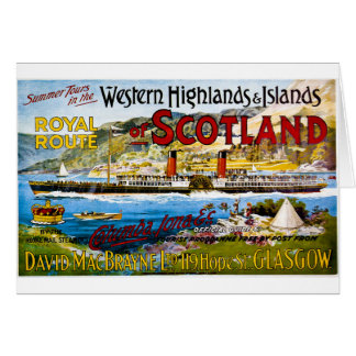 Royal Mail Steamers Vintage Travel Scotland Greeting Card