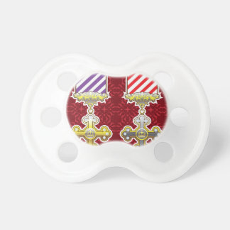 Royal Medal Vector Art Gold Silver Striped Ribbon Baby Pacifiers