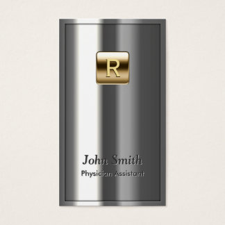 Royal Metallic Physician Assistant Business Card