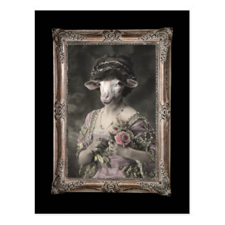 Royal Miss Sheep Framed Portrait Postcard