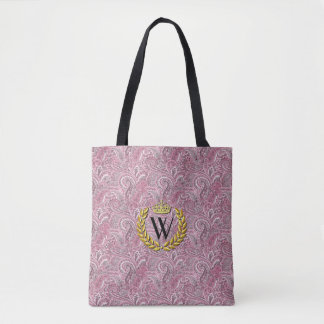 Royal Monogram Paisley Personalize Tote Bag