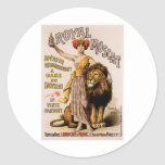 Royal Muscat Vintage Wine Drink Ad Art Classic Round Sticker
