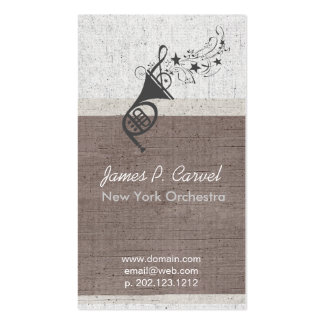 Royal Music Modern French Horn Music Band Teacher Pack Of Standard Business Cards