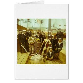Royal Naval Exhibition 1891 Magic Lantern Slide Greeting Card