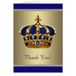 Royal Navy Blue and Gold Thank You Cards