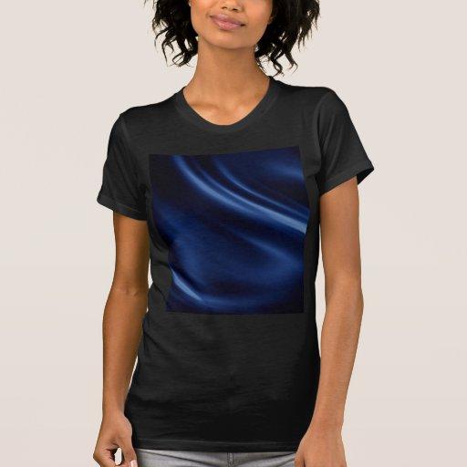 Royal navy blue velvet silk textile elegant chic tee shirt