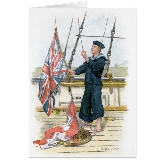 Royal Navy Sailor Signalling Card