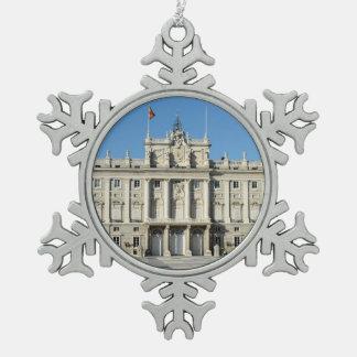 Royal Palace, Madrid Snowflake Pewter Christmas Ornament