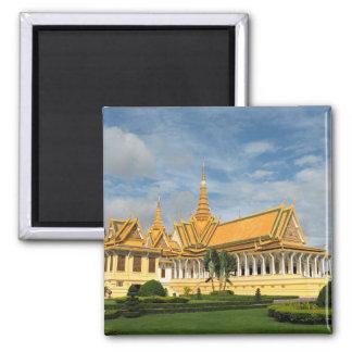 Royal Palace, Phnom Penh, Cambodia Square Magnet
