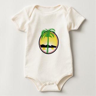 Royal Palm Beach Sea Mountain Retro Baby Bodysuit