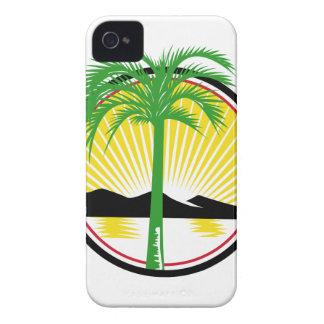 Royal Palm Beach Sea Mountain Retro iPhone 4 Case