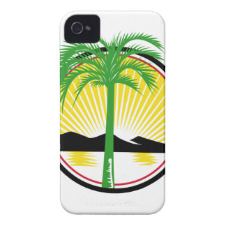 Royal Palm Beach Sea Mountain Retro iPhone 4 Case-Mate Case