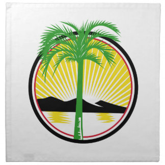 Royal Palm Beach Sea Mountain Retro Napkin