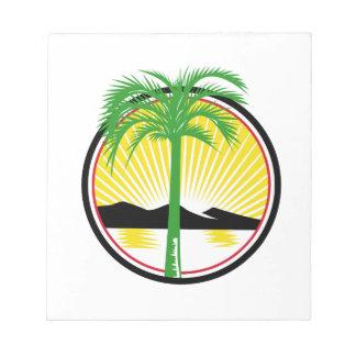 Royal Palm Beach Sea Mountain Retro Notepad